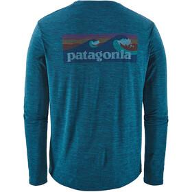 Patagonia M's Cap Cool Daily Graphic LS Shirt Boardshort Logo/Big Sur Blue X-Dye